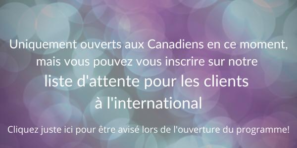 Liste d'attente pour les clients à l'international